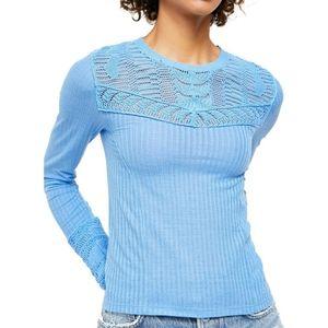 Free People Colette Longsleeve Knit Sweater